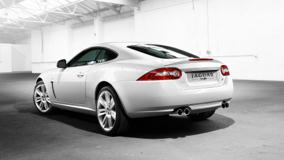 Jaguar XKR 2010 Back Side Pose In White